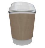 Spazio di plastica di Java Drink Caffeine Blank Copy di mattina della tazza del caffè Fotografie Stock