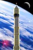 Spazio di Rocket Fotografia Stock