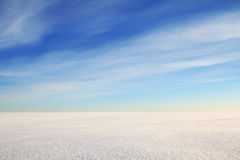 Spazio di Snowy Fotografie Stock Libere da Diritti