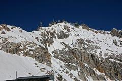 Spazio di sosta superiore di Zugspitze, Germania Immagini Stock