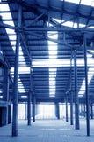 Spazio di stoccaggio abbandonato in una fabbrica Fotografia Stock Libera da Diritti