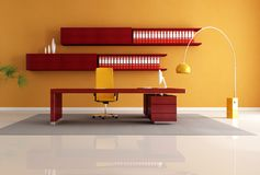 Spazio di ufficio di legno Immagini Stock