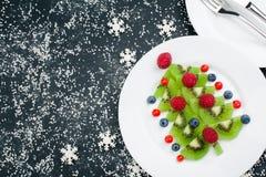 Spazio di vista superiore del fondo dell'alimento di Natale per testo fotografia stock libera da diritti