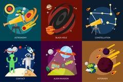 Spazio ed universo illustrazione vettoriale