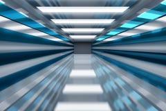 Spazio futuristico - tunnel coperto di pannelli riflettenti brillanti royalty illustrazione gratis