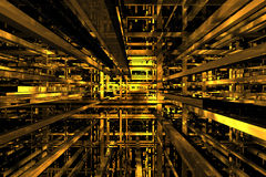 spazio giallo 3D Fotografie Stock