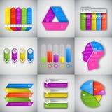 Spazio grafico della copia omaggio della raccolta di dati di gestione di progettazione stabilita di Infographic del titolo illustrazione vettoriale
