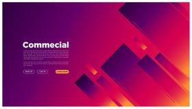 Spazio grafico futuristico variopinto d'atterraggio geometrico della pagina dell'estratto il vostro stile here_geometric del test royalty illustrazione gratis
