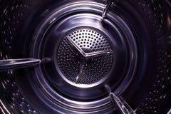 Spazio illusorio all'interno della lavatrice Immagini Stock
