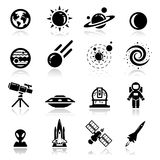 Spazio impostato icone Fotografia Stock