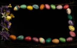 Spazio incorniciato della copia dell'uovo di Pasqua largamente Fotografia Stock Libera da Diritti