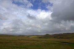 Spazio interno della pianura del anf dell'Islanda con cielo aperto Fotografie Stock