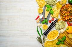 Spazio italiano della copia dell'alimento Fotografia Stock