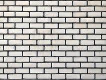 Spazio libero bianco strutturato di orizzontale del muro di mattoni Fotografie Stock Libere da Diritti