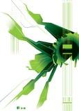 Spazio moderno verde Fotografia Stock Libera da Diritti
