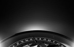 Spazio nero della copia delle roulette del casinò Fotografia Stock Libera da Diritti