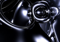 Spazio nero (estratto) Fotografia Stock Libera da Diritti