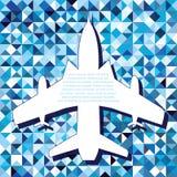Spazio piano per il cielo della nuvola della mosca dell'aria del testo Fotografie Stock