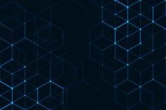 Spazio poligonale astratto illustrazione vettoriale
