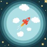 Spazio Rocket Immagine Stock