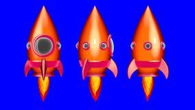 Spazio Rocket Moving del fumetto nello spazio fotografie stock