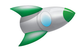 Spazio Rocket verde Fotografie Stock