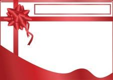 Spazio rosso di titolo dell'arco illustrazione di stock