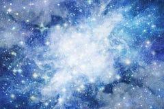 Spazio stellato, nebulosa nello spazio, fondo, spazio blu profondo Fotografie Stock Libere da Diritti