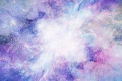Spazio stellato, nebulosa nello spazio, fondo, spazio blu profondo Immagine Stock