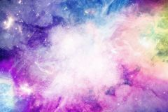 Spazio stellato, nebulosa nello spazio, fondo, spazio blu profondo Fotografia Stock