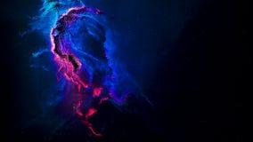 Spazio variopinto di fantasia astratta Universo variopinto fatto di un'abbondanza degli elementi e dei punti Fondo animato astrat illustrazione vettoriale