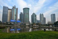 Spazio verde centrale di Lujiazui, Shanghai Fotografia Stock