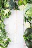 Spazio verde della copia dei prodotti freschi Fotografia Stock