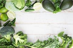 Spazio verde della copia dei prodotti freschi Fotografie Stock Libere da Diritti
