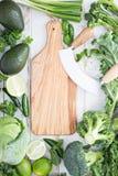 Spazio verde della copia dei prodotti freschi Immagini Stock