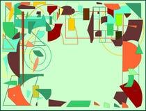 Spazio vuoto del fondo di stile dell'espressionista del briciolo verde chiaro astratto del pittore per il vostro testo Fotografia Stock Libera da Diritti