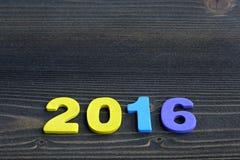 Spazio vuoto della copia per l'idea dell'iscrizione della festa allegra del nuovo anno 2016 Fotografia Stock