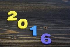 Spazio vuoto della copia per l'idea dell'iscrizione della festa allegra del nuovo anno 2016 Fotografie Stock