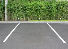 Spazio vuoto per il parcheggio all'aperto in parco pubblico immagine stock libera da diritti