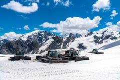 Spazzaneve nelle alte alpi Austria Immagini Stock Libere da Diritti