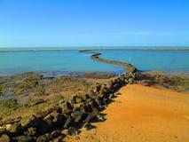 Spazzare Coral Shellfish Trap, Chipiona Fotografia Stock