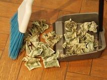 Spazzata 8 dei soldi Immagini Stock Libere da Diritti