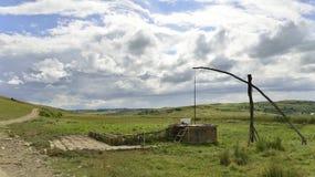 Spazzi la fontana vicino alla riserva naturale a lamella da Immagini Stock Libere da Diritti