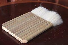 Spazzola alla fabbrica di legno del mulino immagine stock libera da diritti