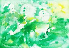 Spazzola astratta originale del fondo dell'acquerello Immagini Stock Libere da Diritti