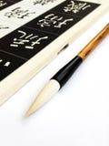 Spazzola cinese di calligrafia Immagini Stock