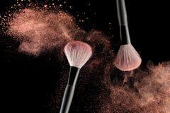 Spazzola con polvere Fotografie Stock