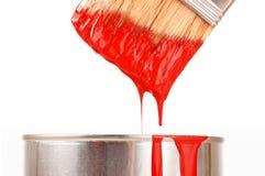 Spazzola con vernice Fotografia Stock