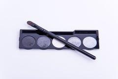 Spazzola cosmetica dell'ombra Fotografie Stock