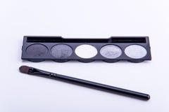 Spazzola cosmetica dell'ombra Fotografia Stock